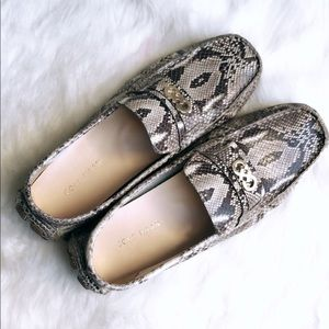 COLE HAAN Snakeskin Driving Loafers Slipper 9.5